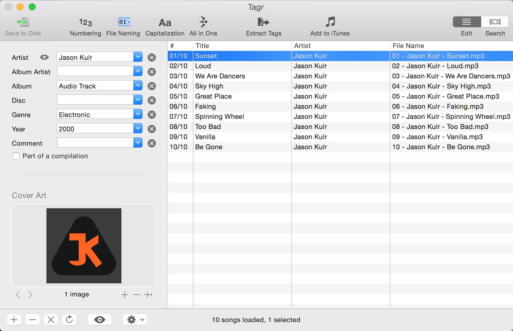 Tagr for Mac OS X 4.6.3 full